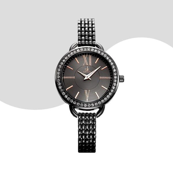 Ladies black watch